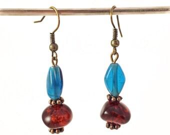 Glass pearls earrings