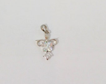 Sterling Silver Pendant with Cubic Zircon