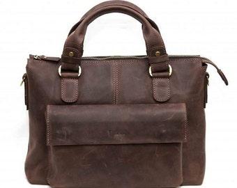 Ready to ship! Leather mens bag, Leather messenger bag, leather satchel, leather laptop bag,  leather handbag,  mens bag, Shoulder Bag