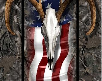 American Buck Wood Camo LAMINATED Cornhole Wrap Bag Toss Decal Baggo Skin Sticker Wraps