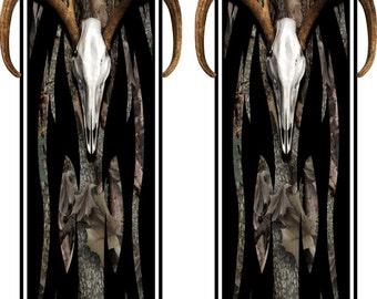 Tribal Buck Skull Oak Camo Truck Bed Band Race Stripes Decal Sticker Graphics