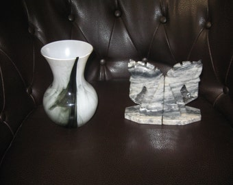 Marble Horse Head Book End
