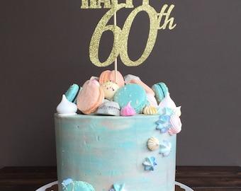Cake topper - sixty cake topper, 60th birthday cake topper, 60th birthday decorations, 60th birthday party, 60th birthday decorations