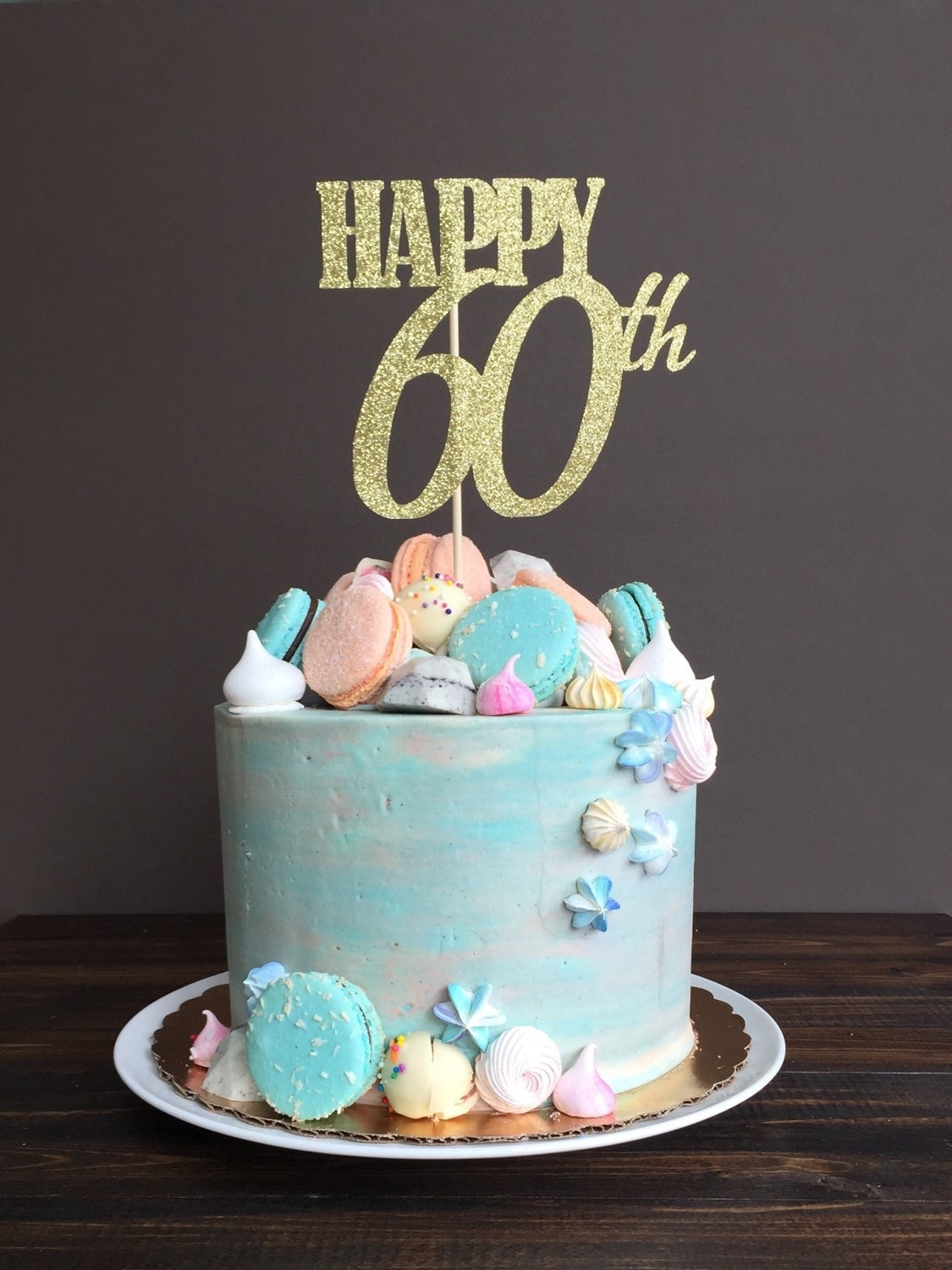 Cake Topper Sixty Cake Topper 60th Birthday Cake Topper