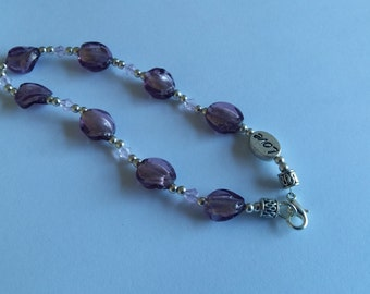 Handmade crystal and bead bracelet