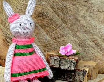 Bunny rabbit, easter bunny, stuffed toy, soft bunny, knitted bunny, Handmade, funny bunny, plush