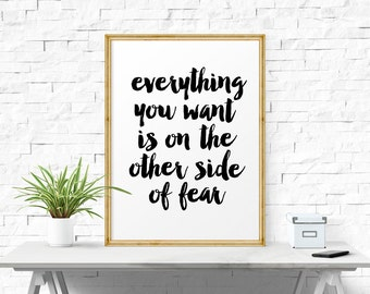 Inspirational Quote, Everything.. Typographic Poster, Quotes, Motivational Quotes, Wall Print, Motivational Print, Inspirational Print