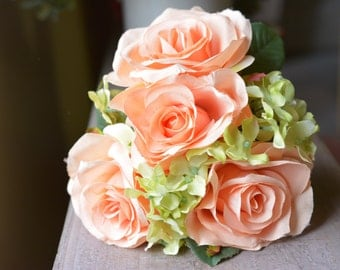 Whimsical Rose Bunch in apricot -ITEM017