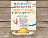 Dragons Love Tacos Invitation, Dragons Love Tacos Birthday, Dragon Tacos Invites, Birthday Invitation,