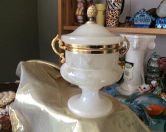 Vintage Italian Alabaster Urn
