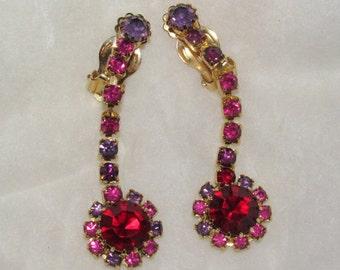 Gorgeous Ruby Red Crystal Earrings
