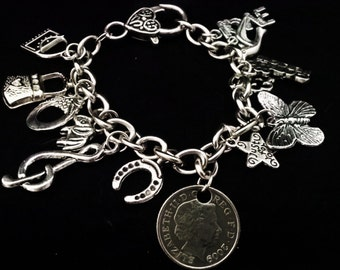 Charm Bracelet with 5 pence coin