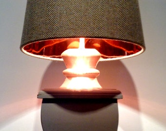 Tweed Copper Lined Empire Lampshade