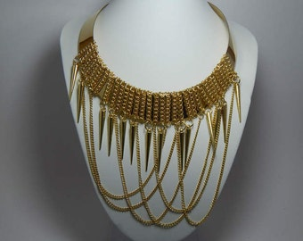 Grecian style gold necklace