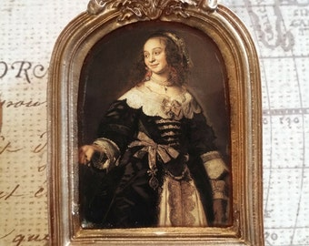 Esteemed Empress Framed Portrait Brooch