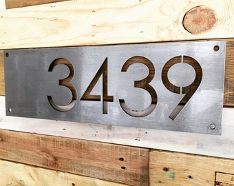 "Custom 18"" Metal House Number - Modern / Rustic House Numbers"
