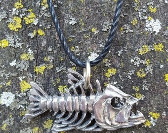 Bone Fish Pendant Necklace