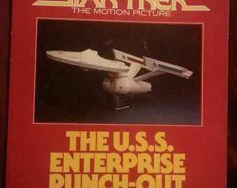 Vintage Star Trek the Movie Punch out Book 1980 edition Great Gift Idea.