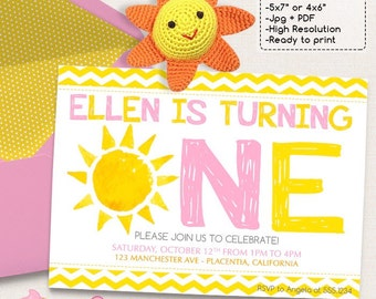 You are my Sunshine Birthday Party invitations DIY Summer printable invite Sunshine invitations