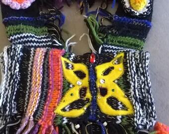 Yellow Butterly purse