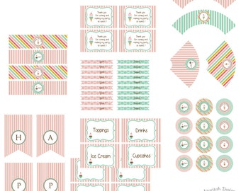 Ice Cream Printable Party Kit | Instant Download