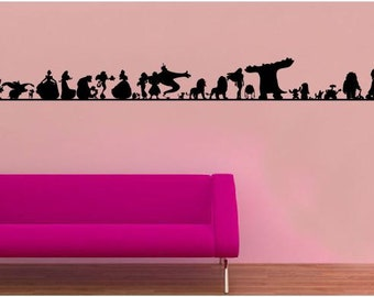 Evolution of Disney wall sticker decal.