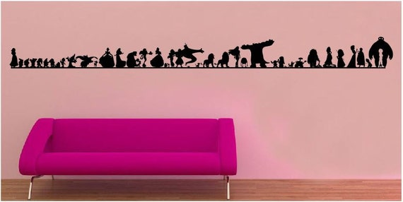 evolution of disney wall sticker decal. Black Bedroom Furniture Sets. Home Design Ideas
