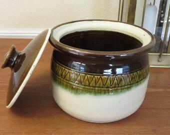 Stoneware Casserole, Lidded Stoneware Casserole, One Quart Casserole, Baking Dish