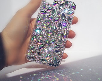 Bling iphone 6s case glitter phone case sparkle case iphone case rhinestone phone case  holograph Case iphone 6s cases diamond case apple
