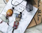 TIN SOLDIER earrings, soldatino di stagno, orecchini ballerina, Bijoux da Favola, Fairy Jewellery
