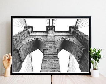 Brooklyn Bridge Poster - Print