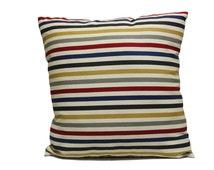 Decorative Stripes Throw pillow Cover, Multi Color Cushion Cover, Handmade pillowcase, Vintage Retro Modern Couch Sofa Throw Pillow 18*18
