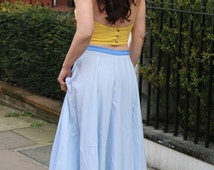 Long Circle Skirt - Organic Cotton Skirt - Maxi Skirt - Full Circle Skirts - Long Skirt - Evening Skirts - High Waisted Maxi Skirt