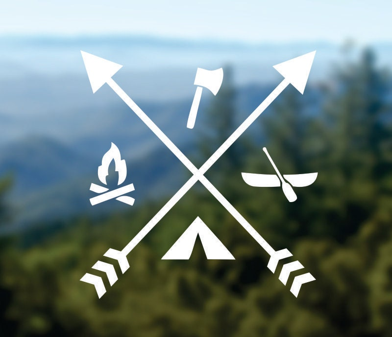 Camp Decal Adventure Sticker Arrows Decal Car Window Decal
