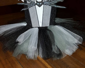 Jack Skellington Inspired Tulle Dress, Halloween, Dress Up, Nightmare Before Christmas Dress