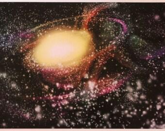"""12"""" x 18"""" """"Cosmic"""" Print -- art, trippy, galaxy, stars, universe"""