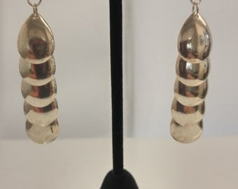 Sterling teardrop dangle earrings
