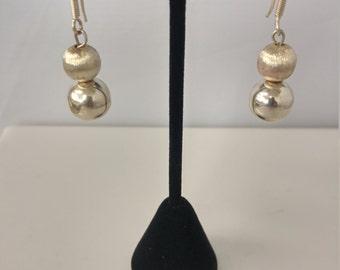 Sterling silver ball earrings