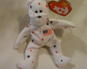 Vintage Beanie Baby - Original Ty Teenie Beanie - Glory The Bear -Ty Original - Childs Toy - Soft Stuffed Toy Bear - Gift for the Collector