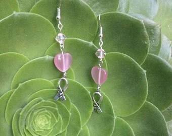 Pink Hope Charm Earrings