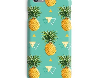 Pineapple iPhone Case, Triangle iphone case, Fashion iphone 6 case, Tumblr iphone 6 case, Geometric iphone 6s case, Green iphone case