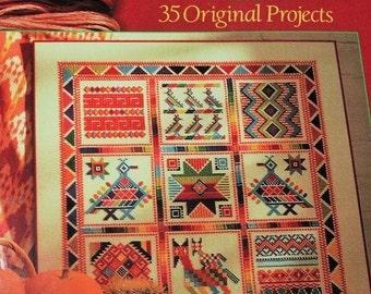 Splendid Samplers To Cross-Stitch: 35 Original Projects-Hardback 1995- American sampler designs-crafting book