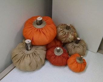 Burlap Pumpkins, Halloween Harvest Thanksgiving Decor, Pumpkin Decor, Halloween Thanksgiving Harvest Pumpkin, Stuffed Pumpkin, Plush Pumpkin