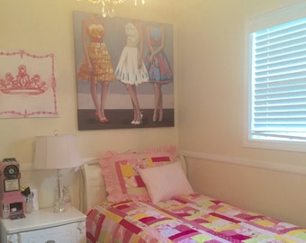 Pink Cotton Twin Quilt Comforter