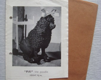 vintage Briggs transfer toy FIFI the POODLE sewing pattern