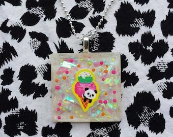 Kawaii Ice Cream Panda necklace