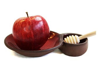 Ceramic Apple & Honey dish