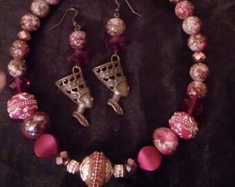 Egyptian Queen Nefertiti Choker/ Necklace Set