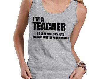 Teacher Tank Top Gift For Teacher Occupation Profession Tank Top