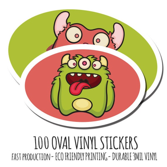 Custom Vinyl Stickers  Custom Stickers Vinyl Oval Stickers - Custom stickers eco friendly